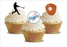 12 x Baseball Los Angeles Dodgers Trio Mix Birthday Sports  Edible Cake Toppers