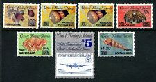 Cocos Keeling Islands, MNH, 7 Overprinted Postage Paid Stamps, Shells, x20305