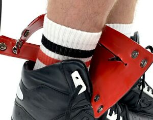 Latex rubber ankle wallet - Black outside and Red latex  Clubbing Colin Money