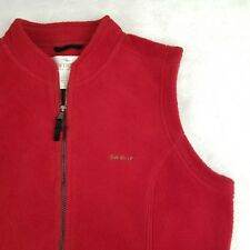 RARE Antigua Sun Valley Ski Resort Womens Fleece Vest Golf Red Sz Large