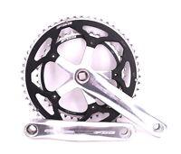 FSA Vero Road Bike Crankset 170mm Double 55/42 Square Taper Black, Silver
