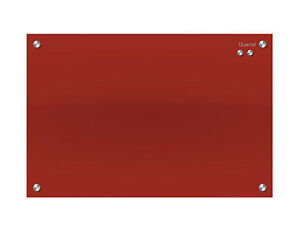 Quartet Infinity Glass Board 450X600 Red - Medium Glass Board Free Delivery