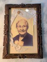 Antique Vintage Hand Carved Tramp Art Picture Frame