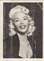 card sticker JAYNE MANSFIELD film movie entertainment Yugoslavia ed. from 1950's