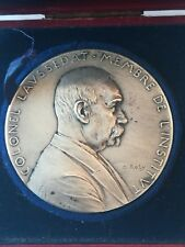 Médaille Argent Massif O. Roty Colonel Laussedat 1898 - 65,5 g 50 mm