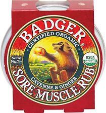 Bálsamo Relajante Masaje Muscular Pimienta De Cayena Jengibre Orgánico Badger