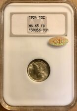 USA - Mercury Dime - 1934 - NGC MS65 - GOLD CAC!