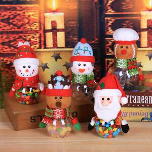 Childrend Christmas Candy Jar Storage Bottles Santa Doll Bag Holders Sweet Gift