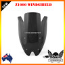 Black Double Bubble Windscreen Windshield visor Kawasaki Z1000 2010-2013 Black
