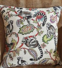 "Madagascan Lemur 'Animal Tapestry' Designer Fabric Cushion Cover 16"" x 16"""