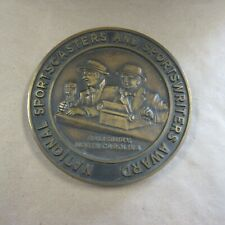 Vintage Bronze National Sportscasters & Sportswriters Of The Year Award
