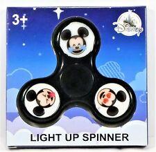 Authentic Disney Parks Exclusive Mickey Emoji Black Fidget Spinner Light Up NEW