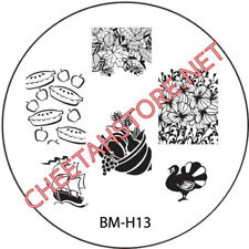 Stamping plaque Bundle Monster BMH13 pour vernis ongles