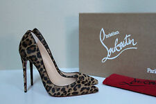 New sz 7 / 37.5 Christian Louboutin So Kate Pony Leopard Pointed Toe Pump Shoes
