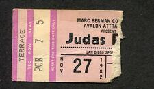 1982 Judas Priest Concert Ticket Stub San Diego World Vengeance Screaming For