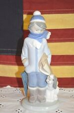 "Lladro Boy & Dog Figurine 5220 ""WINTER"" Mint In Box / Retired 2001 from Estate"