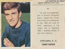 040 tommy hughes # chelsea. fc sticker fks wonderful world of soccer 1969