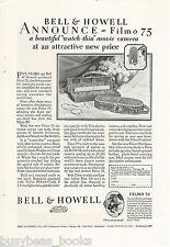 1928 Bell & Howell advertisement, FILMO Movie Camera, Filmo 75