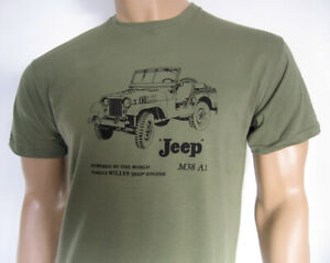 WILLYS M38 A1 T-SHIRT - US Military General Purpose Vehicle WWII Vietnam Korea