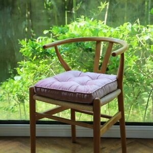 Soft Cozy Velvet Square Seat Cushion Pillow For Home Living / Dining Chair Decor