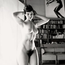 Bettie Page nude pinup 14x14 print 018
