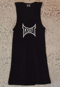 TAPOUT Mens Singlet, Black, UFC MMA, Size S, Pre-loved