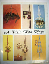 Macrame A Flair with rings patterns for potholders decor