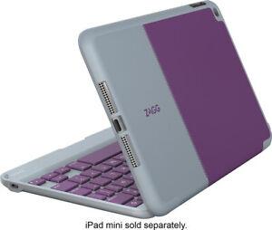 ZAGG Folio Case Hinged Bluetooth Keyboard for Apple iPad Mini 4 in Purple