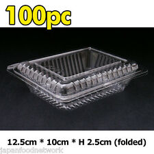 100x Plastic Disposable Lunch Container Sushi Roll Box Take away BPA Free