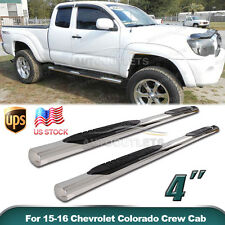"4"" For 05-16 Toyota Tacoma Ext/Access Cab Side Step Nerf Bars Running Boards S/S"