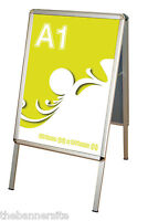 A-Board Pavement Shop Sign, Poster Display Stand, A1 Size