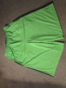 Reebok Boy's Shorts - Size XL(18-20) Lime/Neon Green with Dark Grey Trim