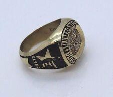 USBC 10K Solid Gold KEEPSAKE Diamond SZ 13.25 Mens Wedding Ring 0.14 Carats