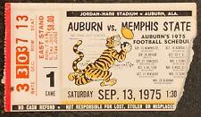 1975 Album vs Memphis State Football Ticket Stub