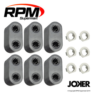 Exhaust Rubber Mounts & Clips For Holden Commodore (6Pack)