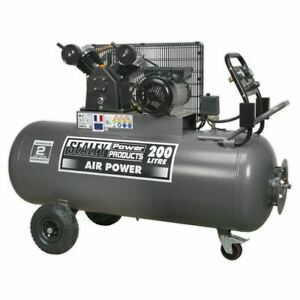 Sealey SAC3203B Compressor 200ltr Belt Drive 3hp with Front Control Panel