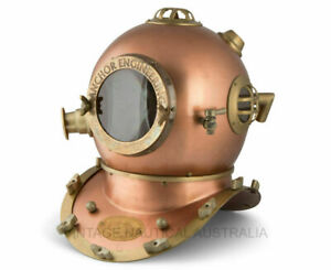 "Anchor Engineering Scuba Diving Maritime Marine 18"" Helmet Divers Helmet Antique"