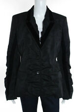 Yves Saint Laurent Black Velvet Trim Blazer Size European 44 New $1895