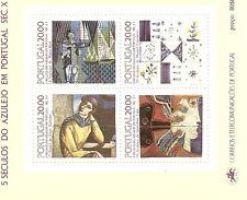 PORTUGAL-1985-Souv. Sheet n.81-TILES 17,18,19& 20--4 MINT stamps-1691,1703/29/43