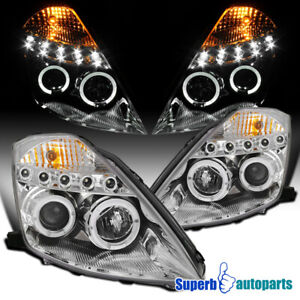 For 2003-2005 Nissan 350Z Z33 FairLady LED Halo Projector Headlights