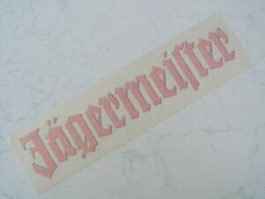 oranger Jägermeister Transfer-Aufkleber ca. 30 cm x 6,5 cm groß
