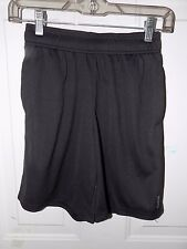 Reebok PlayDry Black Athletic Shorts Size S Boy's EUC FREE USA SHIPPING