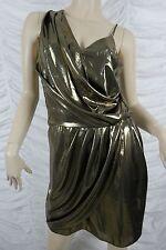 RIVER ISLAND gold lame smart sloane grecian dress size 10 BNWT