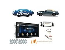 2007-2008 FORD MUSTANG DOUBLE DIN STEREO KIT, USB TOUCHSCREEN BLUETOOTH DVD
