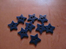 Vintage tiny navy blue star celluloid buttons