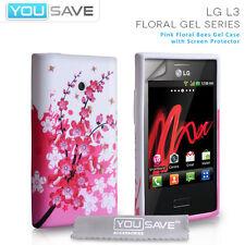 Accessoires POUR LE LG OPTIMUS L3 E400 Silicone Floral Bee Gel téléphone Housse