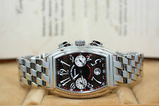 BRAND NEW FRANCK MULLER CONQUISTADOR CHRONOGRAPH 8005 STAINLESS STEEL B&P