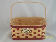 Longaberger 2006 Two Pint Basket w Tie On & Protector