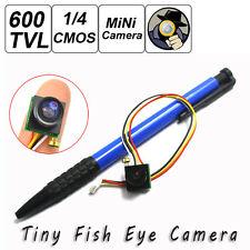 600TVL Wide Angle 170 degree Mini small color CCTV FPV hidden camera with Audio