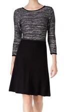 Nine West Black Sequin Women's Knit Tweed Sheath Dress Size X-Large